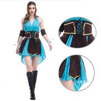 2017 Women S Sexy Forest Elf Fancy Dress Halloween Robin Hood Warrior Pirates Cosplay Costume