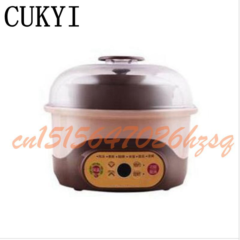 CUKYI 1-2L Multifunctional cooker electric 150W Slow Cookers Purple clay water proof stewpan cooking gruel Health slow cooker cukyi stainless steel electric slow cooker plug ceramic cooker slow pot porridge pot stew pot saucepan soup 2 5 quart silver