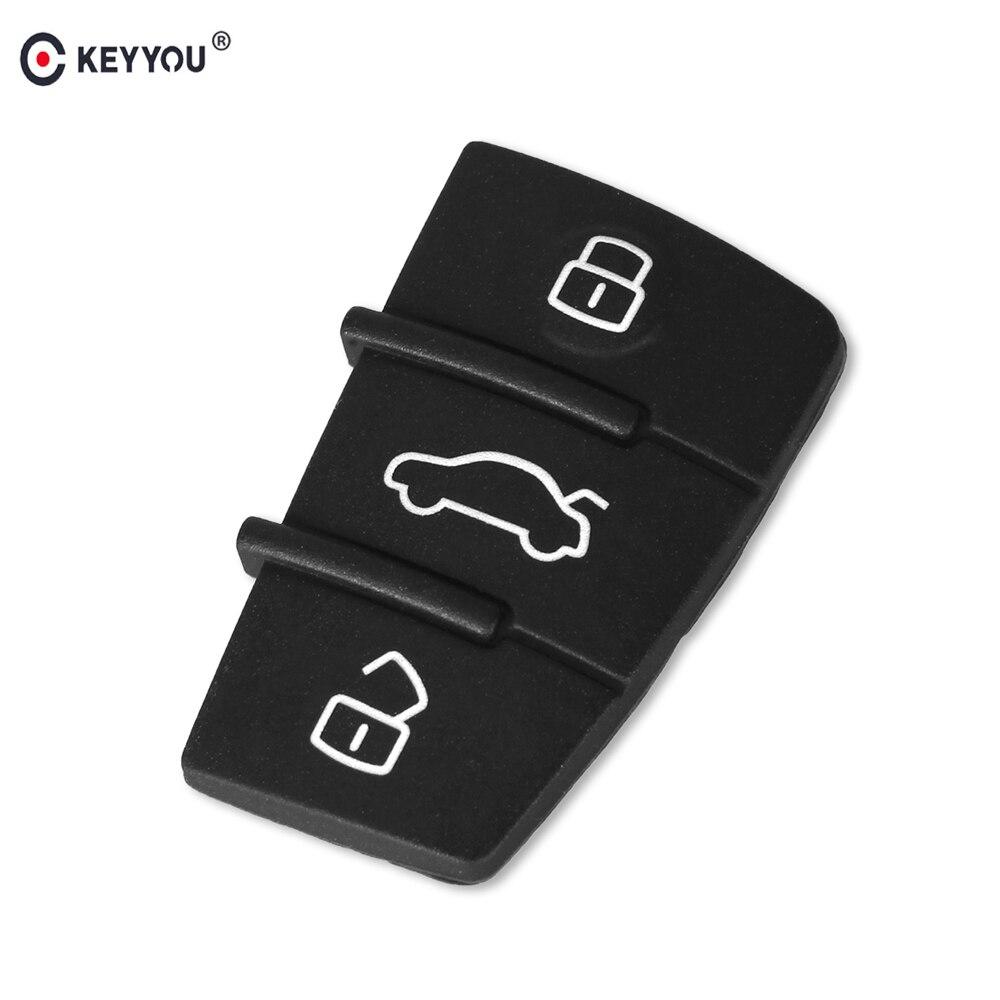 Aufstrebend Keyyou 3 Taste Ersatz Gummi Auto Remote Key Pad Fob Abdeckung Fall Für Audi A3 A4 A6 Avant A8 A4 Allroad