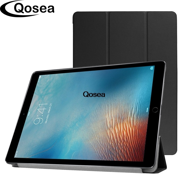 Qosea New For Apple iPad Pro 12.9 inch Luxury PU Leather Smart Stand Case For Apple iPad Pro 12.9 Tablet Protector Stand Cover