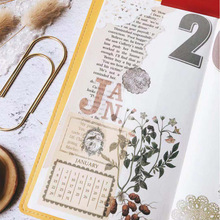 Retro TN perpetual Calendar washi Stickers for Scrapbooking