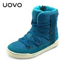 UOVO marque nouveau style de mode enfants garçons et filles shoes haute cut hiver shoes lacet de chaussure enfants sport shoes pour 4-15 ans vieux