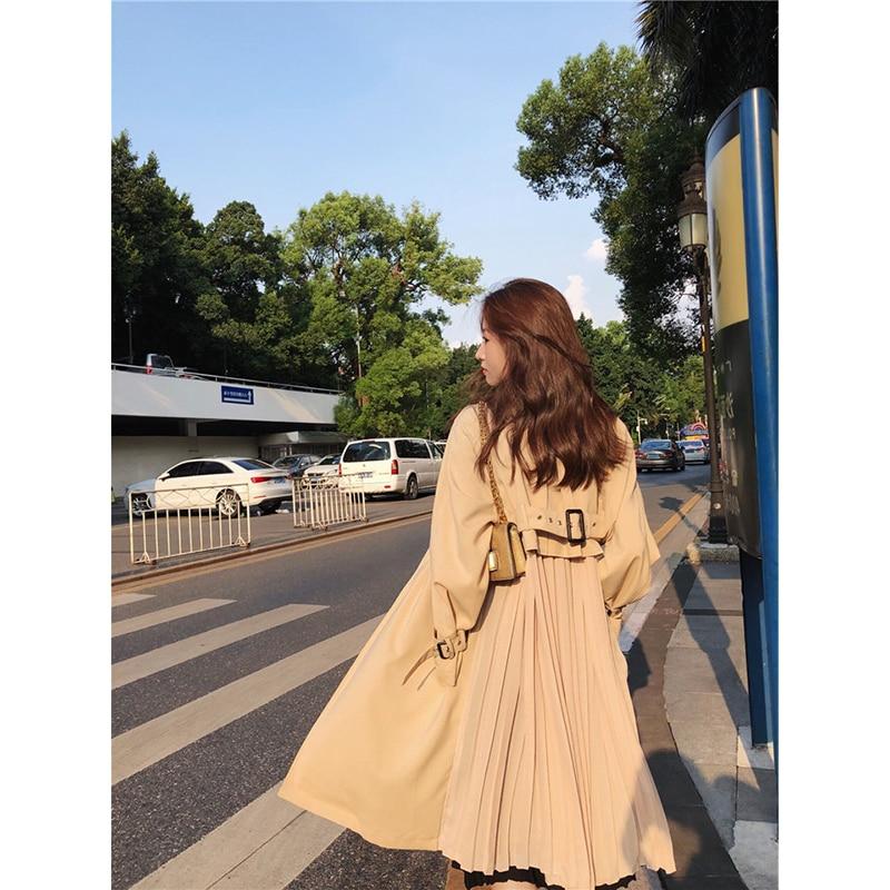 Outwear Trench-Coat Spring Windbreaker Female Chiffon Long Fashion Women's Thin Feminino