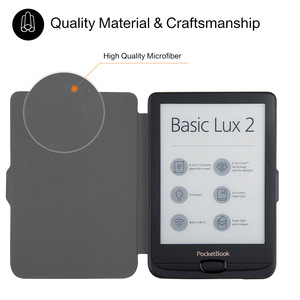 """Image 3 - PU Leather Case For Pocketbook 616 627 632 Smart Cover for Pocketboo Basic Lux2 book/touch/lux4 touch hd 3 6"""" Cover Case"""