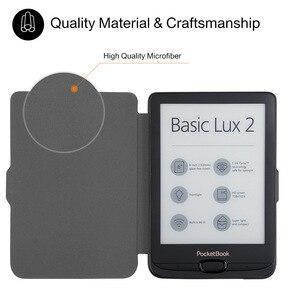 Image 3 - Étui en cuir PU pour Pocketbook 616 627 632, housse intelligente pour Pocketboo Basic Lux2 book/touch/lux4 touch hd 3 6 pouces