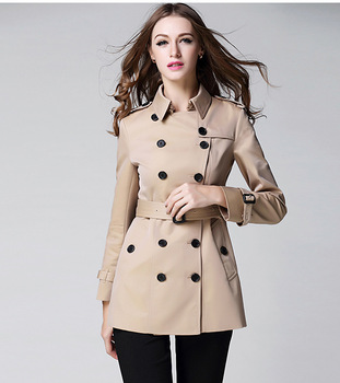 High quality brand design double breasted trench coat Fashion slim women's spring/autumn windbreak coat Chic OL topcoat