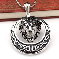316L Stainless Steel Black Stone Skeleton Necklace Pendant MENS Jewelry PUNK ROCK VP1616