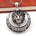 round moon lions pendants necklaces vintage tribal style mens pendants animal jewellery 2016 new arrival VP1616