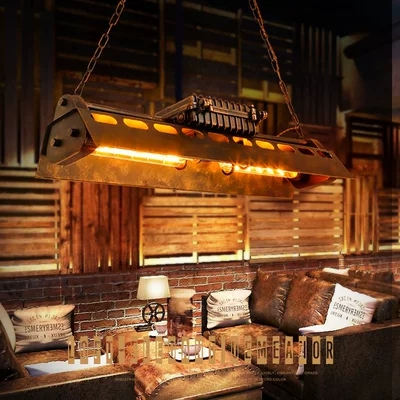 Image 2 - Nordic Industrial Creative Pendant Light Art Loft Vintage Restaurant Decoration Hanging Light Fixtures Retro Edison Bulb Lights-in Pendant Lights from Lights & Lighting