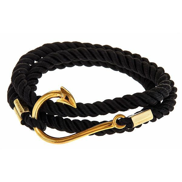 dce5dd44e25b Moda anzuelo pulsera para hombre marinero ancla gancho oro IP joyería de  los encantos del metal 1 unids en Pulseras del encanto de Joyería y  accesorios en ...