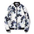 New Arrivals Men Fashion Jackets Flowers Men's Slim Fits Coats Casual Men 2016 Autumn Winter Jackets Plus Size 5XL Hot Sale