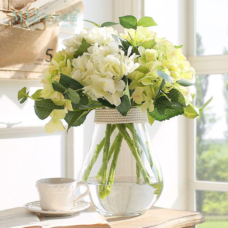 Miz Home 5 Piece Big Size Hydrangea Flower Top Quality Real Touch Flower Home Decor Festival Party Decor No Vase