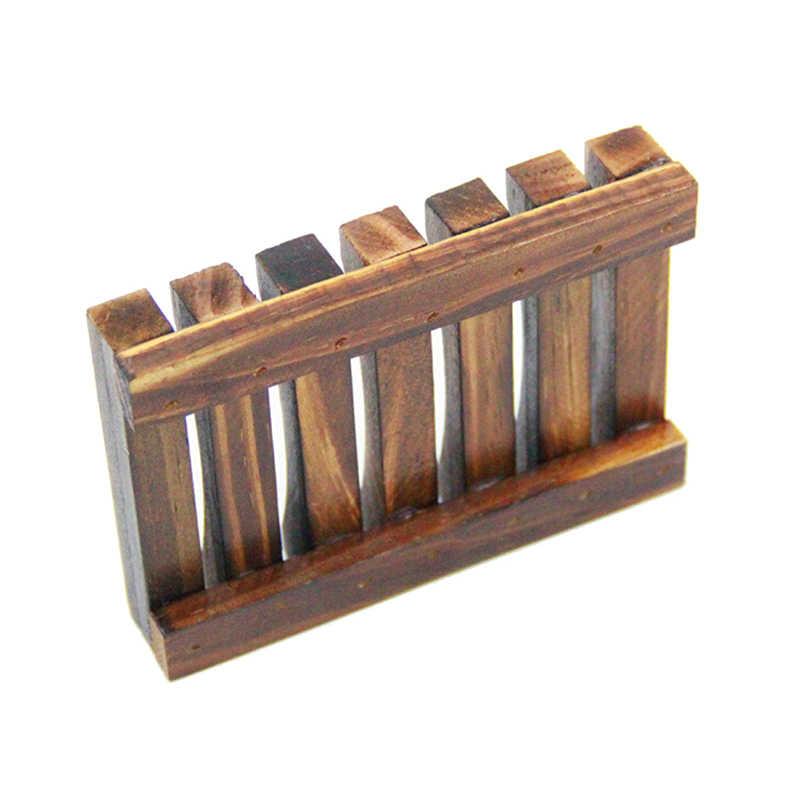 HENGHOME 1Pc drewna kuchnia łazienka gąbka mydelniczka płyta uchwyt skrzynki pojemnik półka węgla kolor drewna