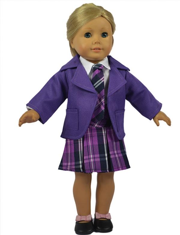 Heißer Verkauf 3in 1 Satz American Girl Puppe Kleidung von Lila ...
