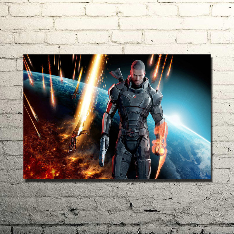 Mass Effect 2 3 4 Hot Shooting Action Game Art Silk Poster Print 13x20 24x36 Wall Pictures For Bedroom (click to see more)-2(China)