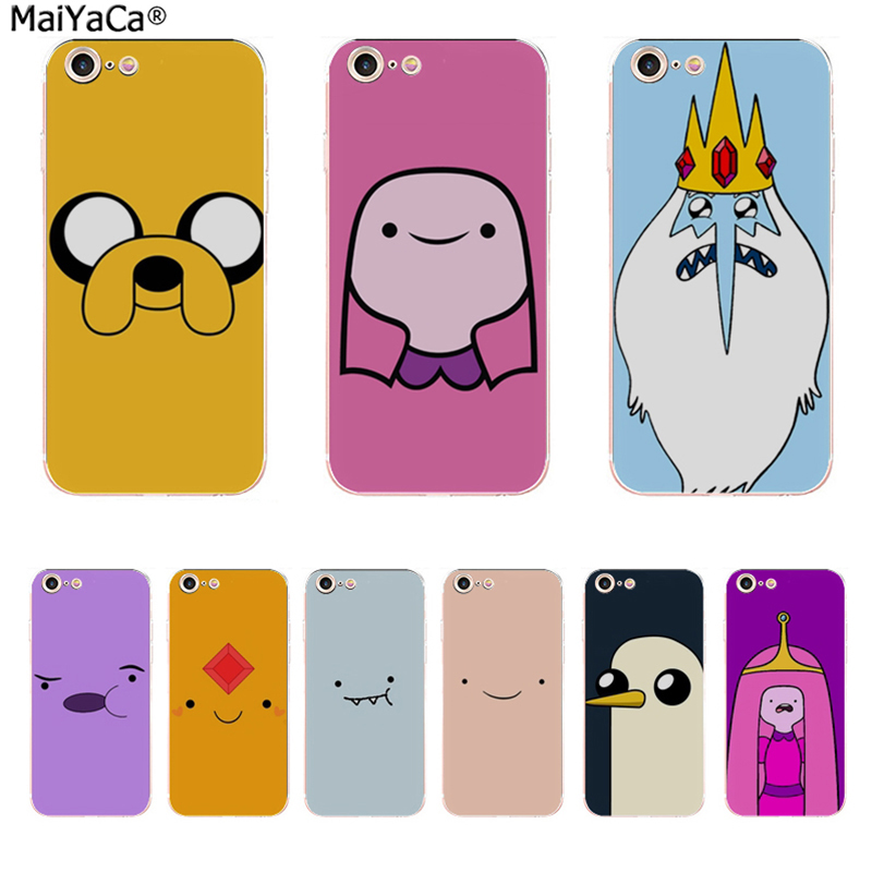 MaiYaCa For Adventure time Coque Shell Phone Case for Apple iPhone 8 7 6 6S Plus