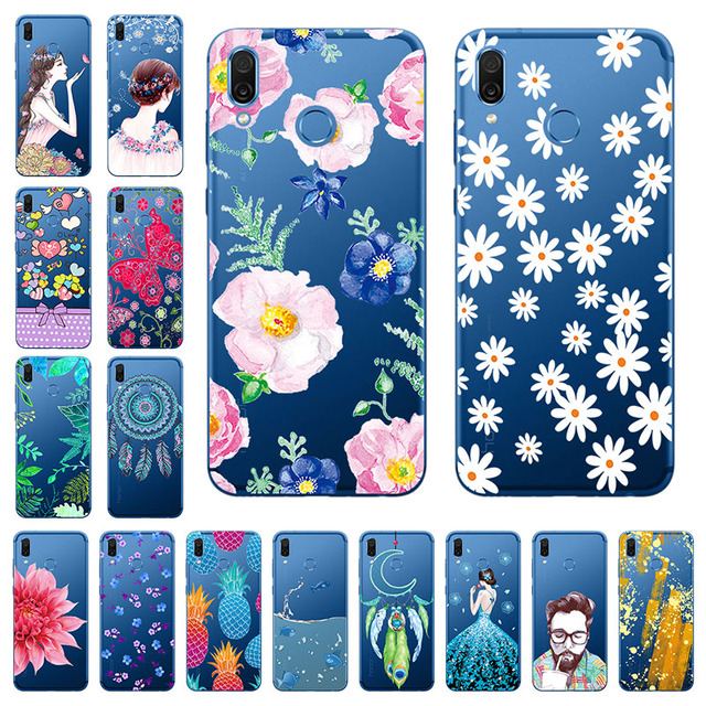 """For Huawei Honor Play Case for Silicon 6.3"""" Clear Transparent TPU Case For Huawei Honor Play COR-L29 Case Back Cover Bumper Skin"""