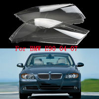 Mayitr 1 Pair Front Headlight Plastic Clear Lens Cover For BMW E90 E91 04 07 Polycarbonate