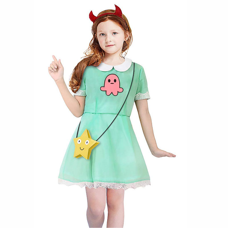 Star vs les Forces du mal Cosplay étoile papillon enfants Cosplay Costumes fille robe taille européenne