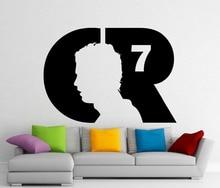 New arrival Modern Design Cristiano Ronaldo Wall Decal CR7 Football Vinyl Sticker Removable Waterproof