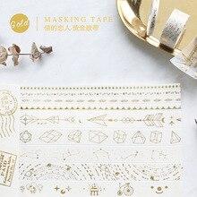 Circus Troupe Arrow Star Golding Washi Tape Adhesive Tape DIY Scrapbooking Sticker Label Masking Tape