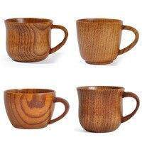 Ручной работы деревянная чашка в китайском стиле примитивная Питьевая чашка натуральный для чая, кофе, пива чашка для напитков дорожная чай