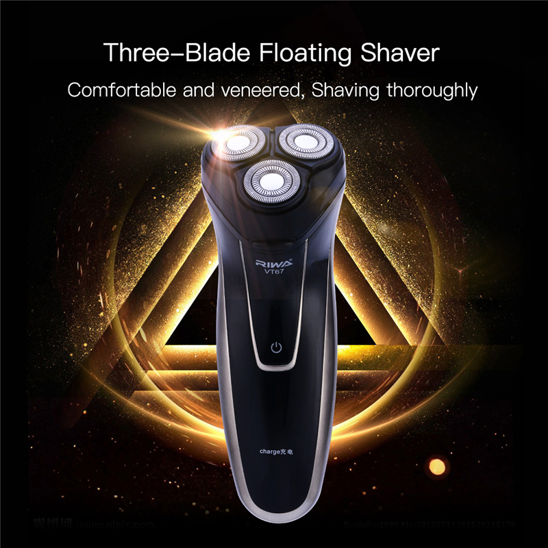 Riwa Rotary Washable Razor Blade Electric Shaver for Men Beard Trimmer 220V Rechargeable Shaver Beard Cutter Shaving Machine w540 3d washable rechargeable beard shaving electric shaver for men heads razor trimmer
