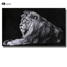 CHENFART Wall Art Canvas Prints Lion Animal Oil Picture for Living Room Unframed Photo Pictures