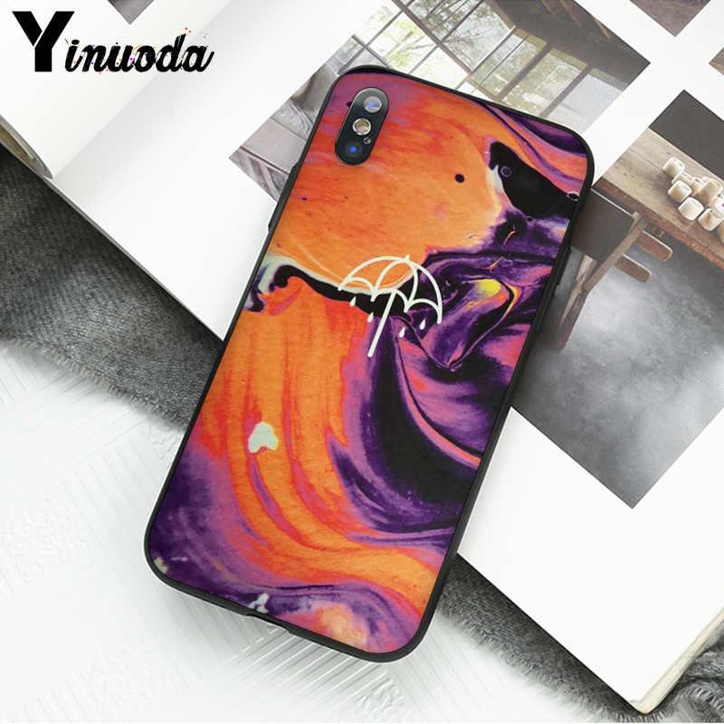 Yinuoda BMTH Me trae el horizonte TPU negro cubierta de la caja del teléfono Shell para Apple iPhone 7 6 6S plus X XS X MAX 5 5S SE XR cubierta