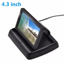 4.3 Inch Color TFT LCD HD Digital Panel Auto Car Rearview Monitor Backup Parking Vehicle Rear View Monitor for Reverse Cameras