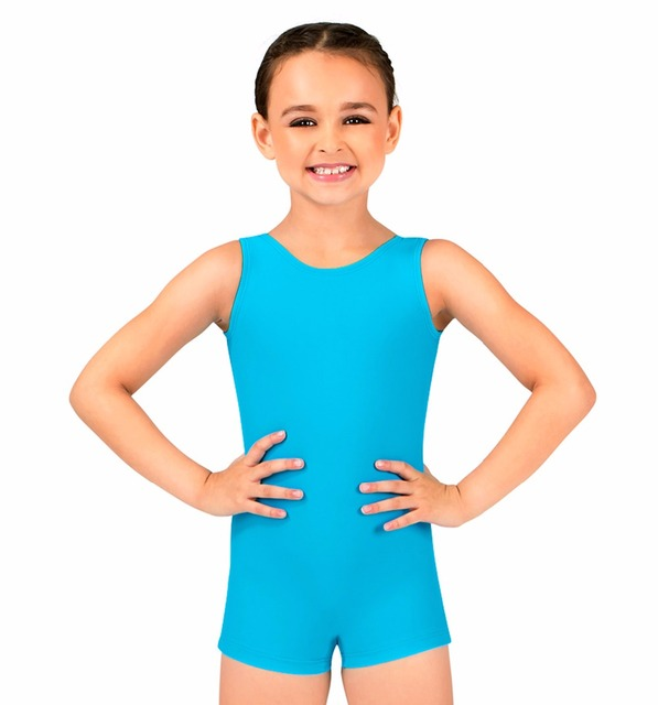 a7b168f2df4b Child Tank Biketard Spandex Kids Unitard Girls Gymnastics Leotard ...