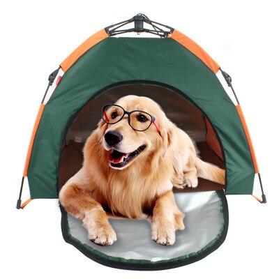 Tente extérieure pour animaux de compagnie pliable automatique maison de chat chenil anti-pluie protection solaire portable nid pour animaux de compagnie voiture chien tente