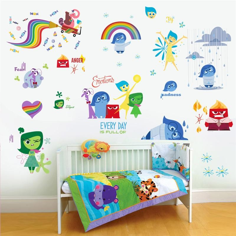 Amazing IO007* INSIDE OUT Wall Stickers Kids Bedroom Decoration Diy Children Home  Decals Riley Cartoon Film Mural Art Movie Posters In Wall Stickers From  Home ...