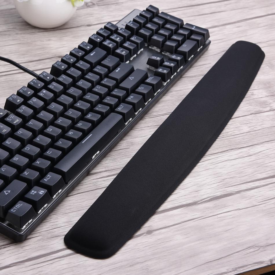 Клавиатуры для запястий площадку эргономичный Поддержка силиконовые подушечки боли для 104 ключ Клавиатуры