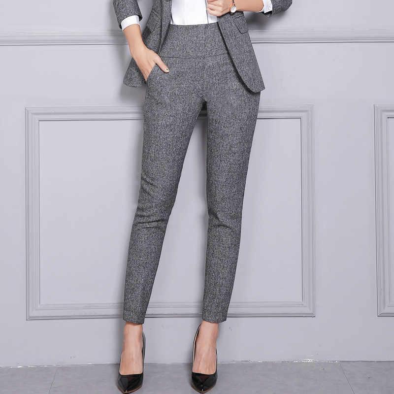 Pantalones Formales De Oficina Para Mujer Pantalones De Trabajo De Cintura Alta Pantalones De Tubo Casuales De Moda Para Otono E Invierno Ropa Femenina 2020 4xl Xxxl Womens Formal Pants Formal Pantsbusiness Pants