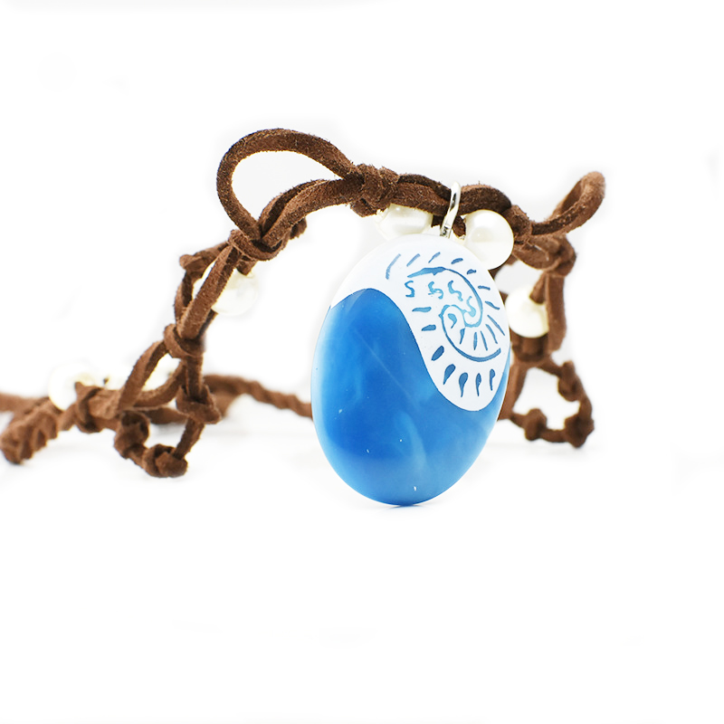 Moana Ocean Romance Rope Chain Necklaces Blue Stone Necklaces - Märkessmycken - Foto 3