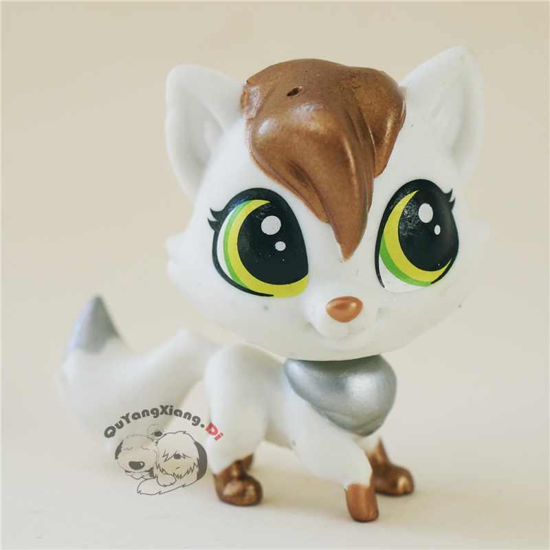 CWM050 Pet Shop Animais boneca Figura de ação gatinho Branco gato dourado
