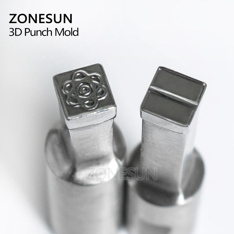 ZONESUN flower logo punching die mold sugar milk Punching Set Stamp tablet die for candy press equipment TDP 0/1.5/3 стоимость