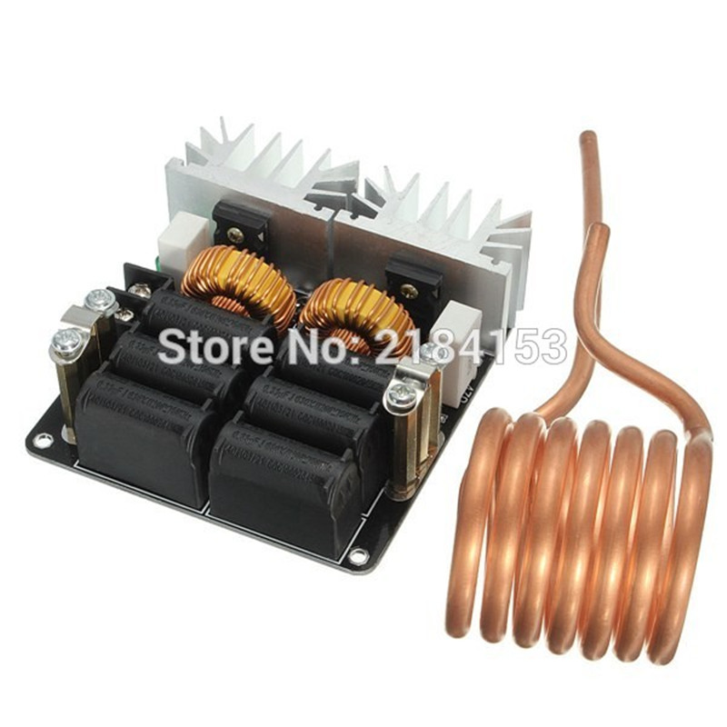 Low ZVS 12-48V 20A 1000W High Frequency Induction Heating Machine Module dc12 36v 20a 1000w zvs induction heating module heater with cooling fan copper tube