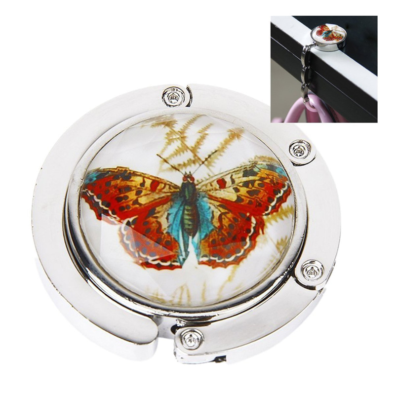 Foldable Metal Butterfly Purse Bag Hanger Handbag Table Hook  MSJ99