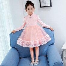 Girls dress 2018 new style children's clothing girls dress spring cotton cheongsam dress big children's costume show dress
