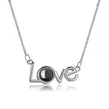 100 languages I Love You Necklace Pendants Women Men Lover Wedding Christmas Gifts Necklaces