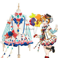 Love Live School Idol Project Kousaka Honoka Circus Fancy Dress Uniform Outfit Anime Cosplay Costumes