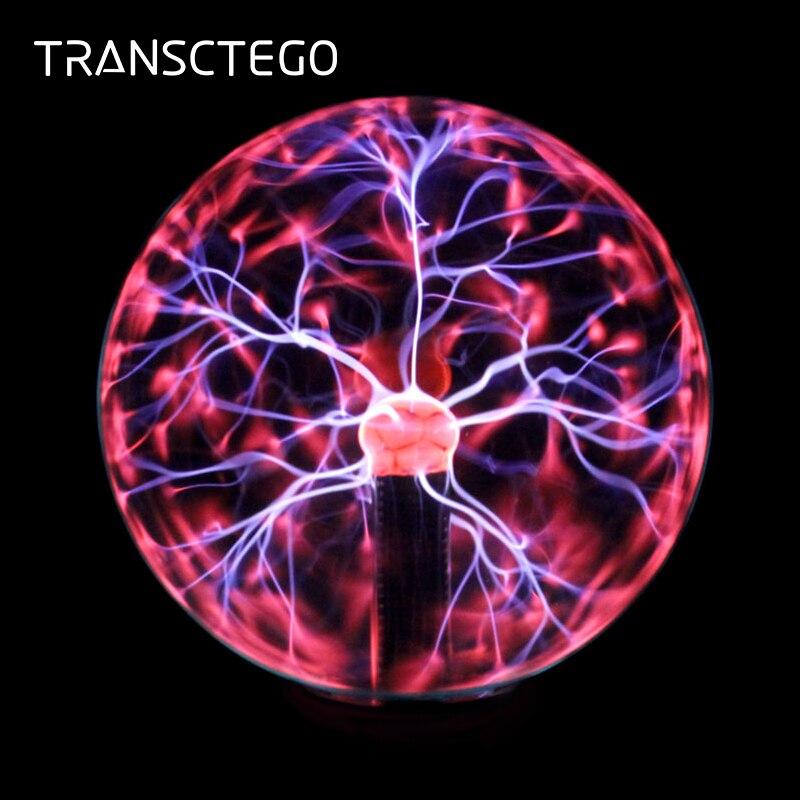 Plasma Ball Partie de Lampe de Lumières Crysta Magique Ion Balle Sphère Nuit Foudre Atmosphère Lampes Pour KTV Purifier Nouveauté Night Light
