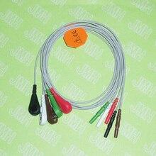 1,5 Din серии ЭКГ/ЭКГ AHA 5 привести кабель и проводам, клип или кнопки.