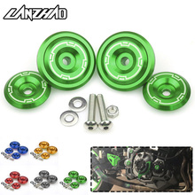 CNC Aluminum Motorcycle Fairing Frame Hole Covers Screws Caps Modified Parts Green Red Gold Blue for Kawasaki Z900 2017 2018