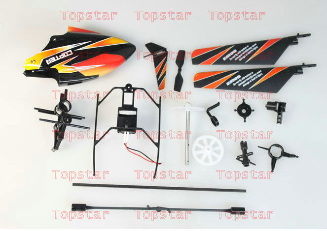Crash Orange Set WLtoys V911 RC Helicopter spare parts head cover, tail fins, connect button, main gear, tail tube and so on elevator and lift spare parts mtd142 button