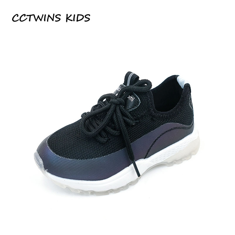 CCTWINS KIDS 2018 Summer Chidren Black Casual Trainer Baby Boy Sport Sneaker Girl Fashion Breathable Shoe Toddller FS2317