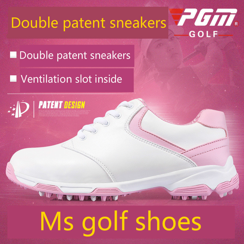PGM patent design golf shoes shoes skid spikes waterproof breathable Golf shoes simulation mini golf course display toy set with golf club ball flag