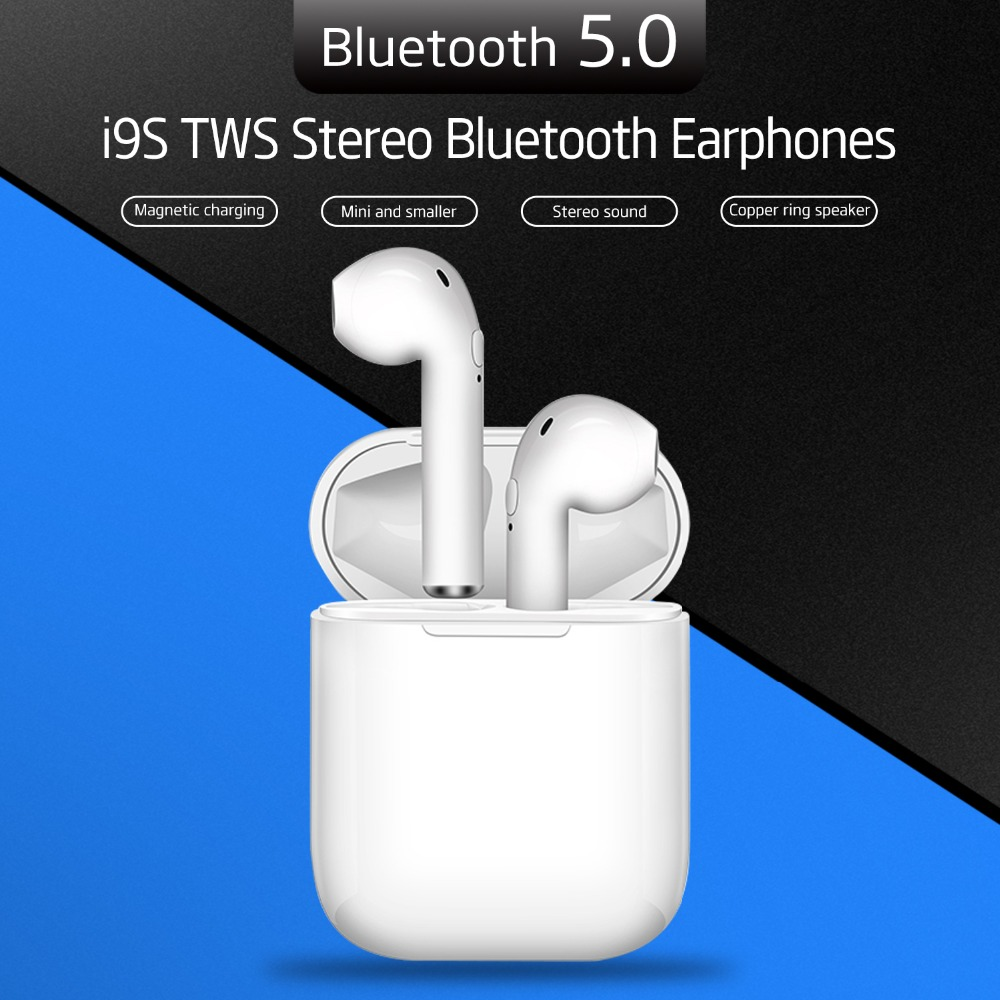 TENACHI TWS Bluetooth Earphone Wireless Earphones 5.0 Stereo Earbud With Charging Case Headset